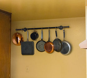 Charming Diy Pot Rack With Pipes From Home Depot, Cleaning Tips, Diy, Kitchen Design