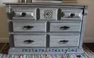 restoration hardware inspired painted dresser, how to, painted furniture, After