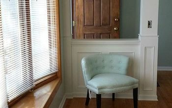 DIY Transom Window Entryway - Before and After