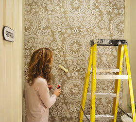 Starched Fabric Wall, Bathroom Ideas, Painting, Small Bathroom Ideas,  Reupholster, Wall