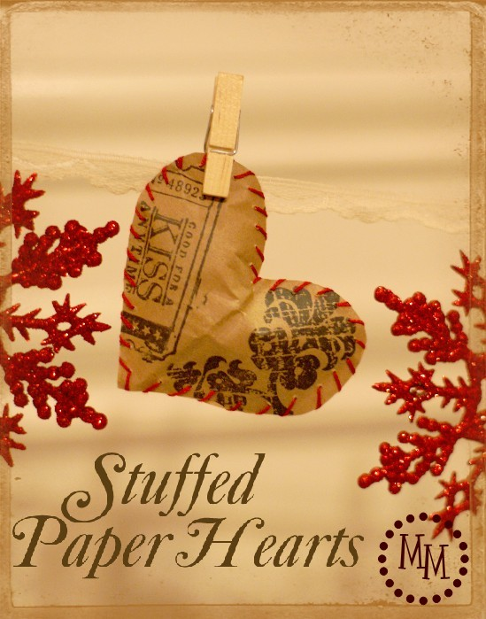 stuffed paper hearts, crafts, how to, repurposing upcycling, seasonal holiday decor, valentines day ideas