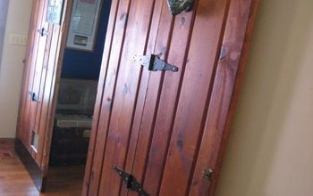 sliding doors add personality to a dull hallway, doors, foyer, home decor, woodworking projects