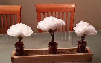 DIY Valentine Centerpiece ~ Upcycled Coffee Filter Flowers Tutorial