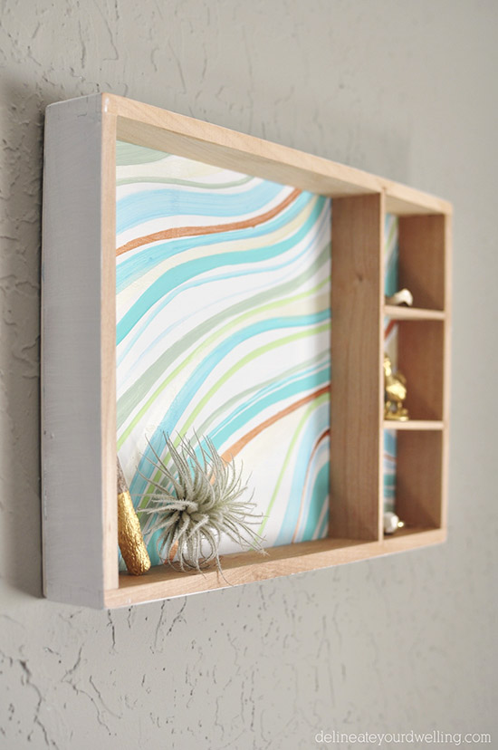 Create an Easy Marbled Wall Decor From a Wooden Toy Box | Hometalk