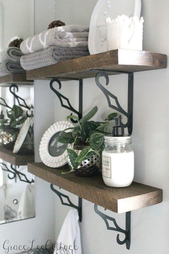 Diy Rustic Bathroom Shelves Ideas Shelving