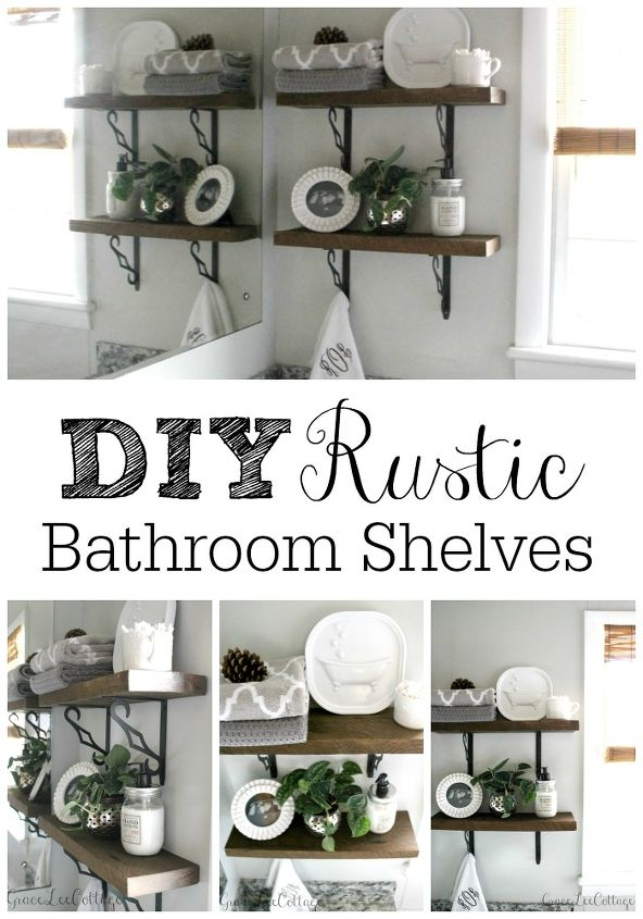 Super DIY Rustic Bathroom Shelves | Hometalk VL24