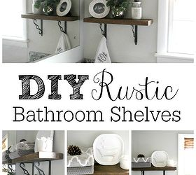 Diy Rustic Bathroom Shelves, Bathroom Ideas, Shelving Ideas