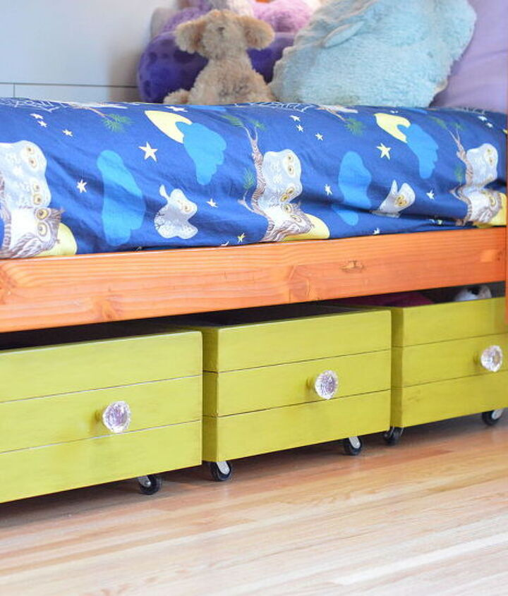 rolling toy boxes made from drawers, bedroom ideas, how to, organizing, repurposing upcycling, storage ideas