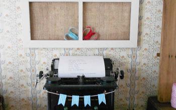 Vintage Typewriter Valentine Vignette