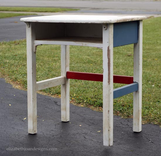 vintage school desk gets modern makeover, painted furniture