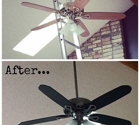 Wonderful Paint Your Ceiling Fan Without Removing It From The Ceiling, How To,  Painting,