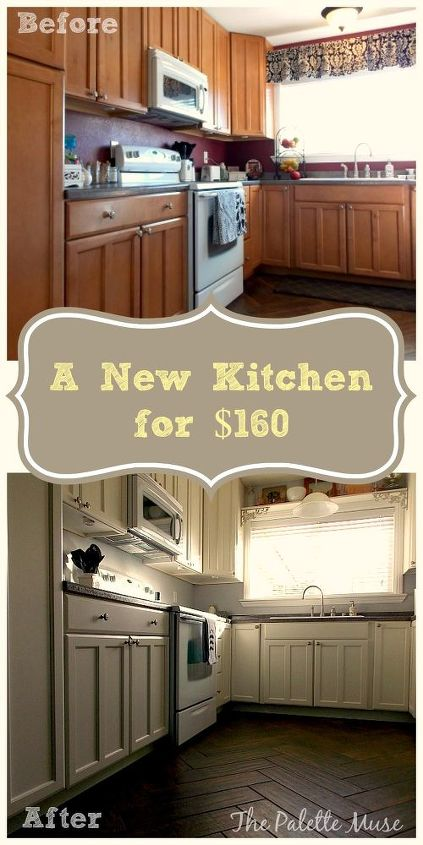 How to DIY a Professional Finish When Repainting Your Kitchen ... Countertop Ideas Kitchen Cabinet Painting Doors Black Html on