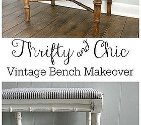 Simple thrifty chic diy vintage bench makeover chalk paint how to painted furniture