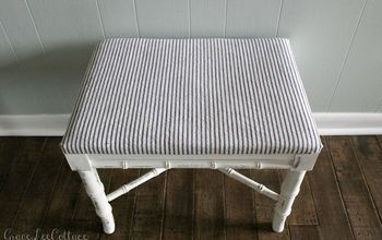 thrifty chic diy vintage bench makeover, chalk paint, how to, painted furniture, repurposing upcycling, reupholster