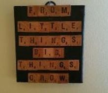 scrabble wall art, crafts, decoupage, how to, repurposing upcycling