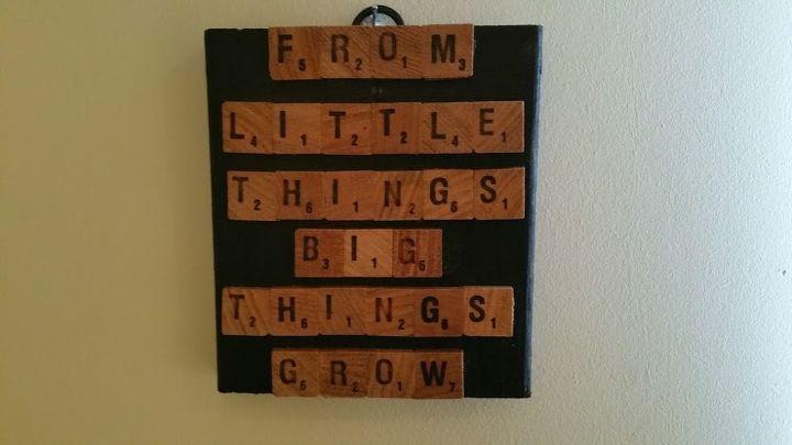 Scrabble Wall Art Hometalk