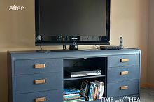 furniture makeover from old outdated dresser to new stunning tv stand, chalk paint, painted furniture, repurposing upcycling