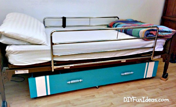 repurposed library to under the bed storage upcycle hometalk. Black Bedroom Furniture Sets. Home Design Ideas