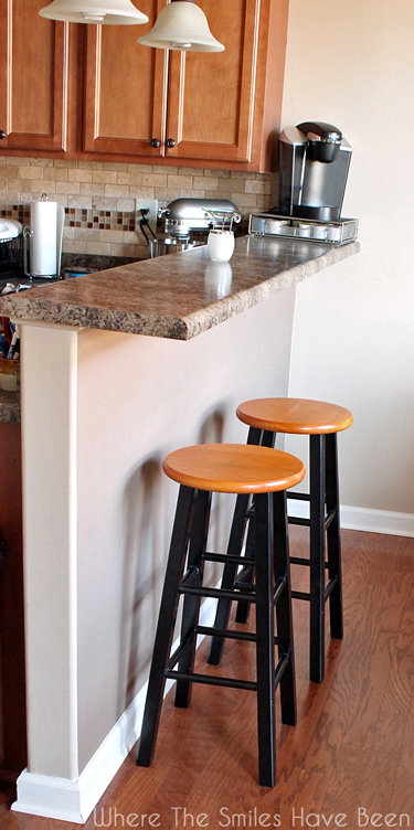 boring bar stools upcycled w bronze dipped legs classic paint job, how to, painted furniture