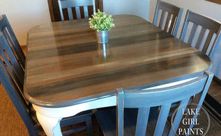 dining table redo wood grain peeks through paint, dining room ideas, how to, painted furniture