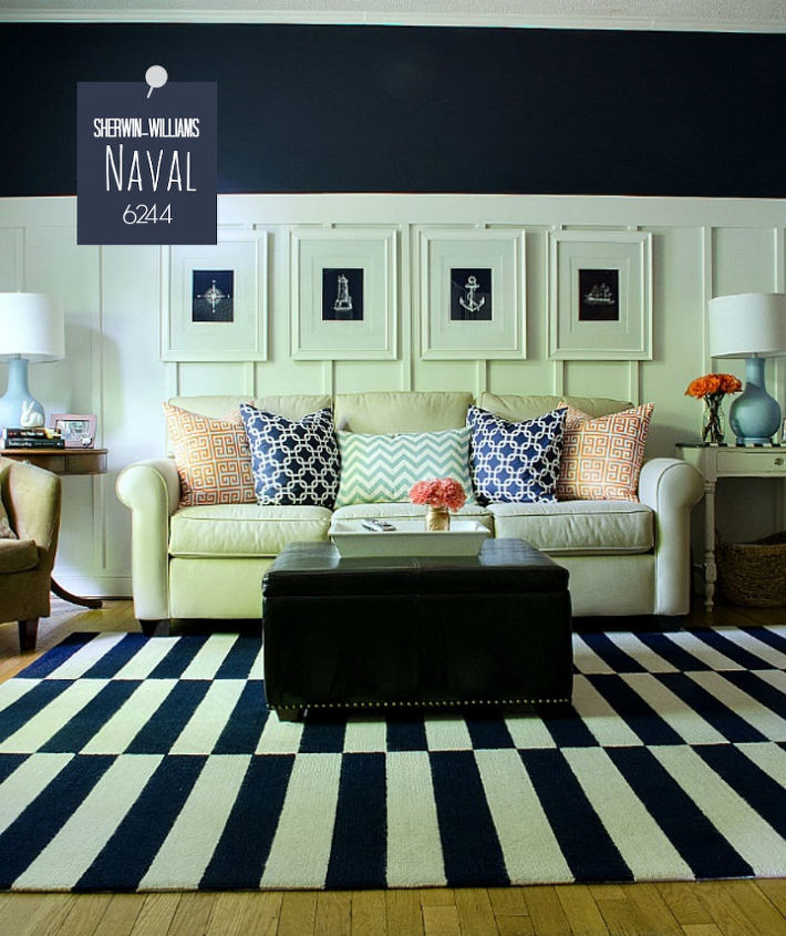 Board Batten Navy And White Living Room How To Ideas Painting