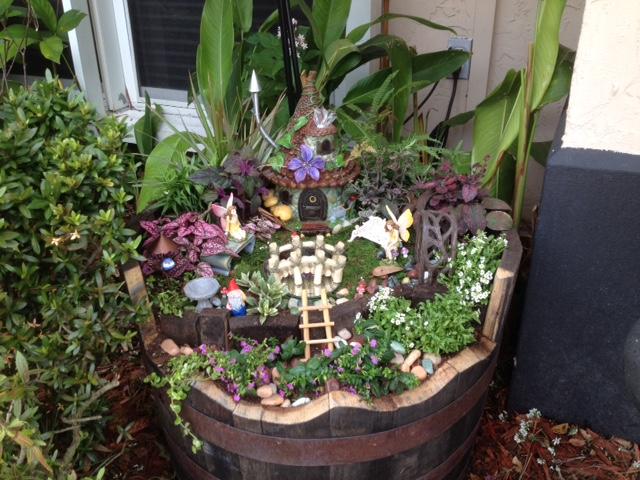 My Whiskey Barrel Fairy Garden Hometalk