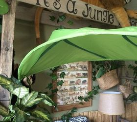 Jungle Themed Bedroom, Bedroom Ideas, Home Decor, Repurposing Upcycling,  Wall Decor