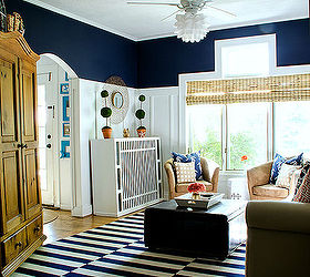 Board Batten Navy And White Living Room, How To, Living Room Ideas, Painting Part 73