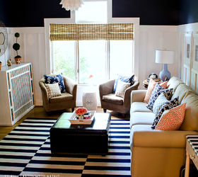 Board Batten Navy And White Living Room, How To, Living Room Ideas, Painting Part 81
