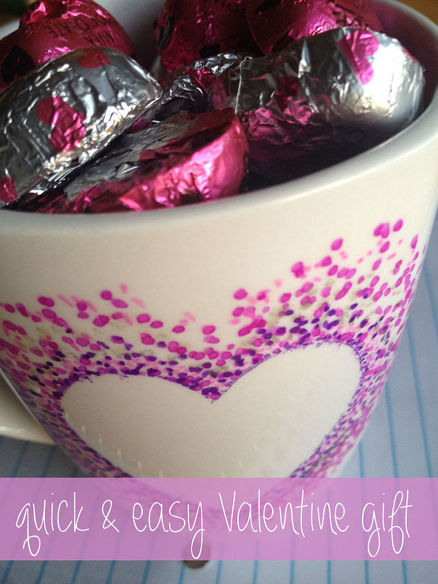 easy and quick valentine s day gift sharpie decorated mug, crafts, how to, seasonal holiday decor, valentines day ideas