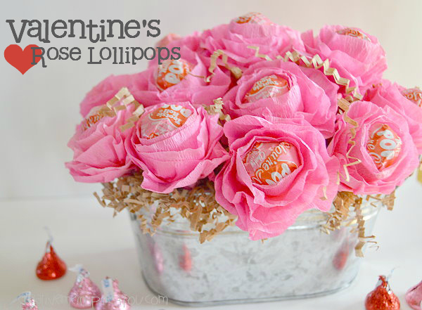 valentine rose lollipops crafts how to seasonal holiday decor valentines day ideas - Valentine Lollipops
