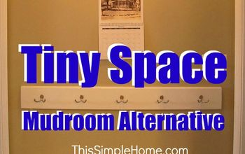 Small Space Mudroom Alternative