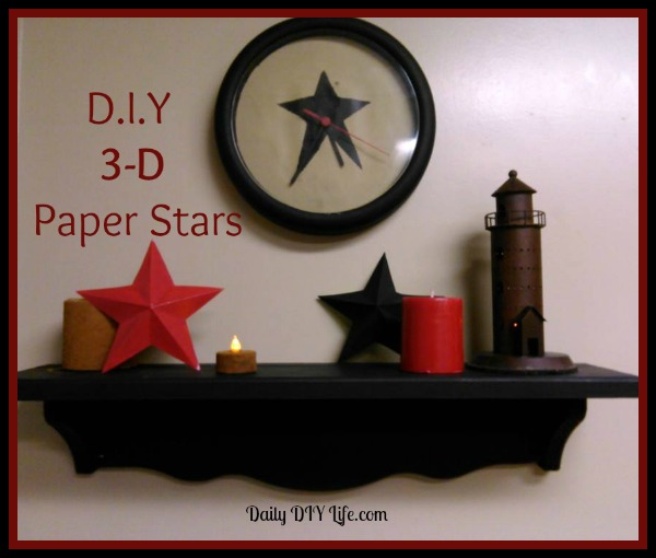 Diy Paper Craft Rustic 3 D Stars Crafts How To