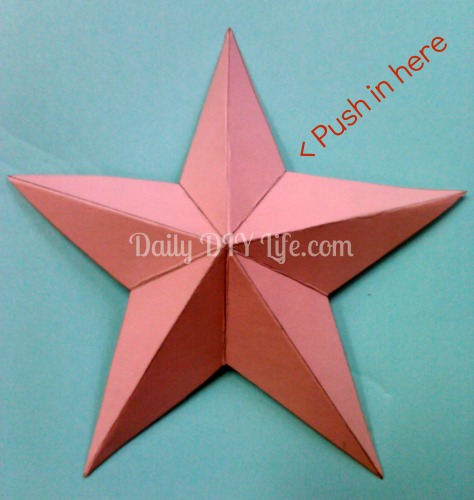 diy paper craft rustic 3 d paper stars hometalk. Black Bedroom Furniture Sets. Home Design Ideas