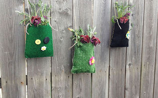 repurposed outdoor carpet samples to diy planter pouches, crafts, flowers, gardening, how to, outdoor living, repurposing upcycling