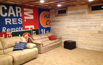 MenDen Basement Finish.  All Re-purposed Materials.