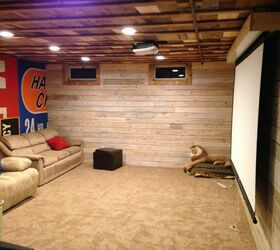 Menden Basement Finish All Re Purposed Materials, Basement Ideas,  Entertainment Rec Rooms, Repurposing