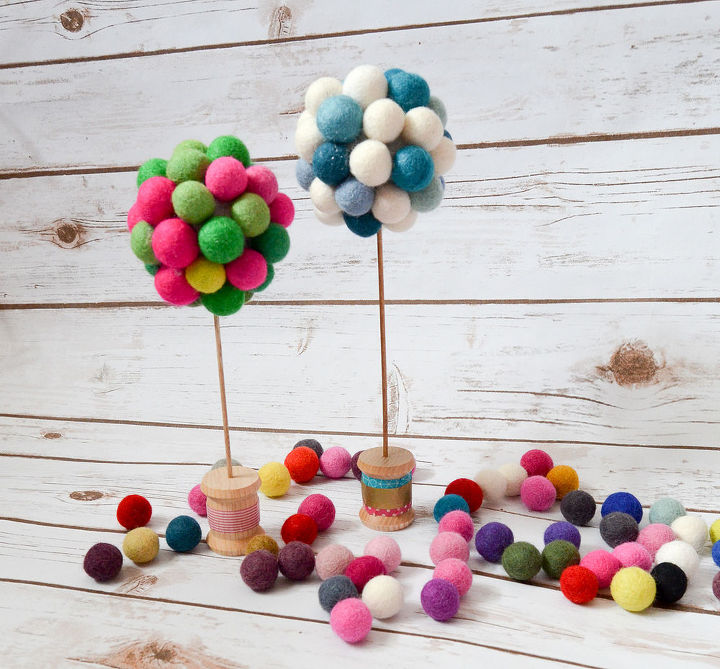 DIY felt ball trees | DIY Felt Balls Projects And Crafting Ideas