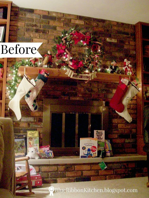 fireplace and mantel makeover, concrete masonry, fireplaces mantels, how to, living room ideas