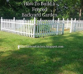 Fenced Backyard Garden Hometalk