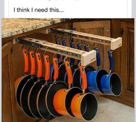 Under The Counter Pull Out Pots And Pans Rack | Hometalk