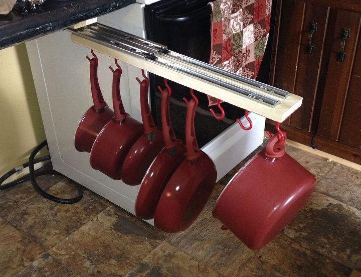 Under The Counter Pull Out Pots And Pans Rack Hometalk