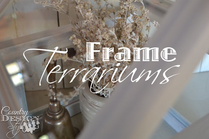 repurposed frames to house shape terrarium, crafts, gardening, how to, repurposing upcycling, terrarium