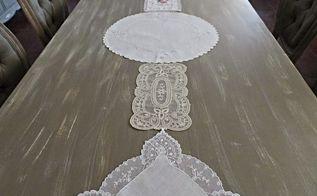 vintage linen table runner, crafts, dining room ideas, repurposing upcycling