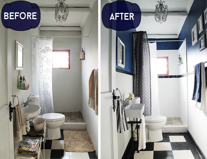 easy cost effective bathroom make over, bathroom ideas, home improvement,  painting, wall