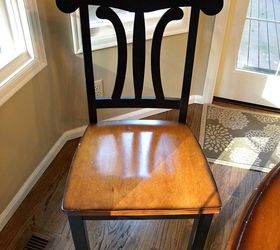 Painted Kitchen Table Ideas Part - 44: Kitchen Table And Chair Makeover With Stain And Paint, Dining Room Ideas,  Kitchen Design