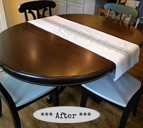 Kitchen Table And Chair Makeover With Stain And Paint, Dining Room Ideas,  Kitchen Design
