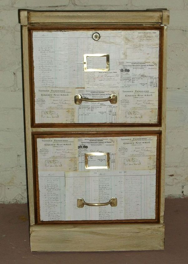 a little old filing cabinet, decoupage, painted furniture