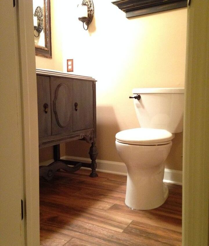 powder room remodel, bathroom ideas, home improvement, painted furniture, repurposing upcycling, small bathroom ideas