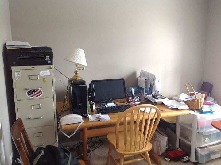 time to get organized, home office, organizing, painted furniture